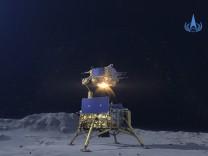 Innere Mongolei: Chinas Raumkapsel mit Mondgestein gelandet