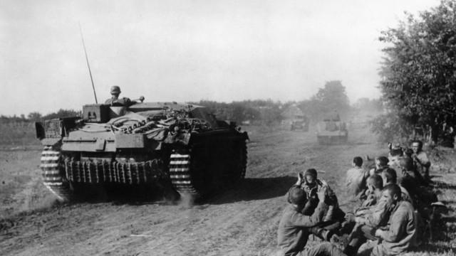 Deutsches Sturmgeschütz an der Ostfront, 1941
