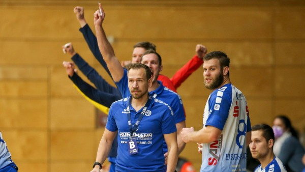 06.12.2020 Handball 2.Bundesliga TV Großwallstadt - TuS N-Lübbecke v.l.,Trainer Ralf Bader (TV Grosswallstadt) Foto: Joa