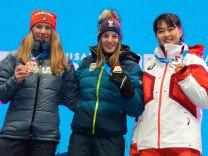 January 18, 2020, Lausanne, Switzerland: The medalists in the Women Individual NH/4kn Combined e event in the 2020 Winte