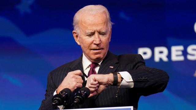 U.S. President-elect Joe Biden announces transportation secretary nominee Buttigieg at his transition headquarters in Wilmington, Delaware