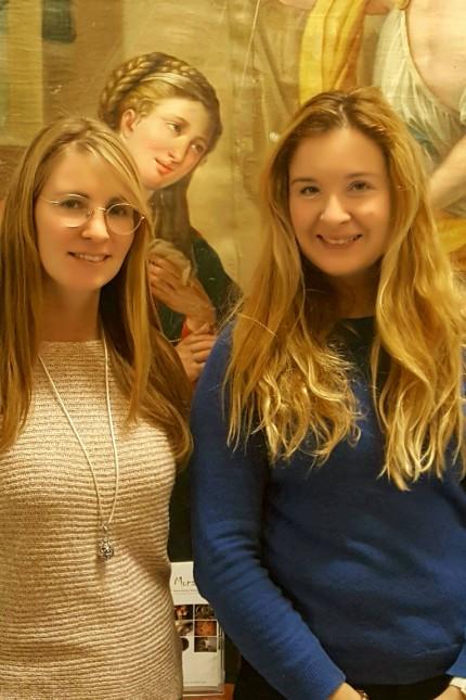 Von links Veronika Disl und Laura Lun Restauratorinnen München Gollierstr. 70 Monalisl