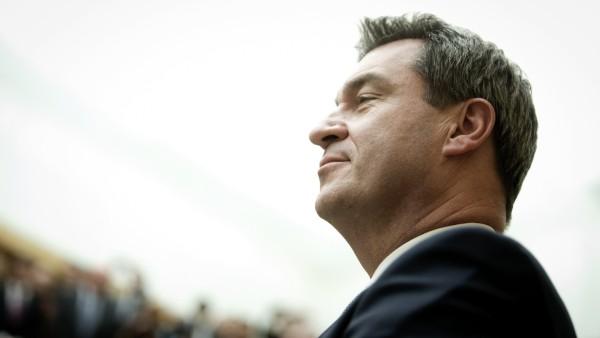 Markus Söder als neuer Bayerischer Ministerpräsident vereidigt, 2018