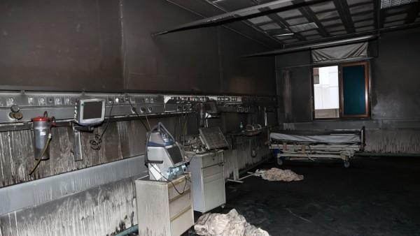(201219) -- GAZIANTEP (TURKEY), Dec. 19, 2020 () -- Photo taken on Dec. 19, 2020 shows a damaged ward after an explosio