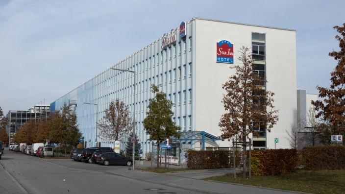 Das Star Inn Hotel in der Weimarer Straße in München.