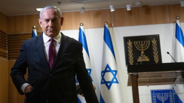 Israeli Prime Minister Benjamin Nethanyahu, delivers a statement at Knesset (parliament) in Jerusalem on Tuesday, Decem