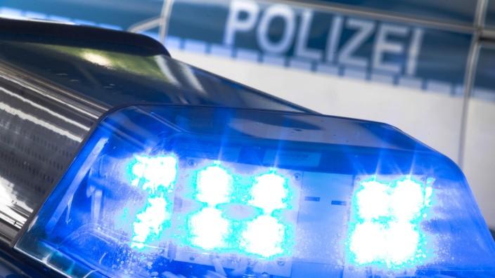 Blaulicht eines Polizei-Autos