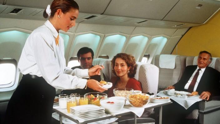 Service im Flugzeug