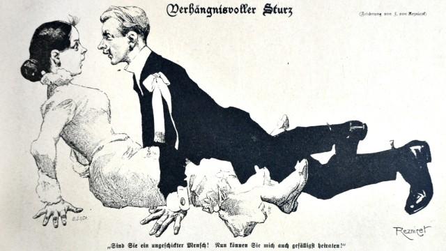 'Verhängnisvoller Sturz' von Reznicek Ferdinand , 1901