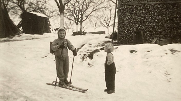 Sepp Huber im Schnee