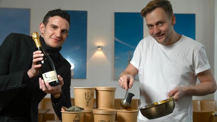 """Jochen Kreppel und Maximilian Süber vom Restaurant """"Der Dantler"""""""