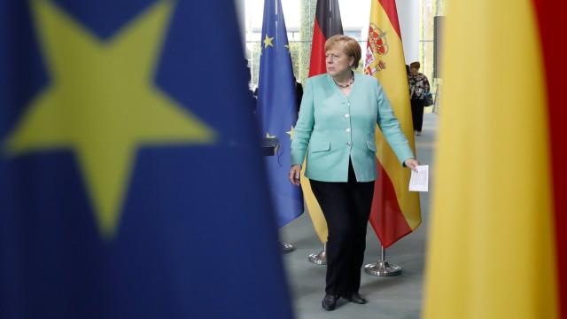 Merkel empfängt den spanischen Ministerpräsidenten Sánchez