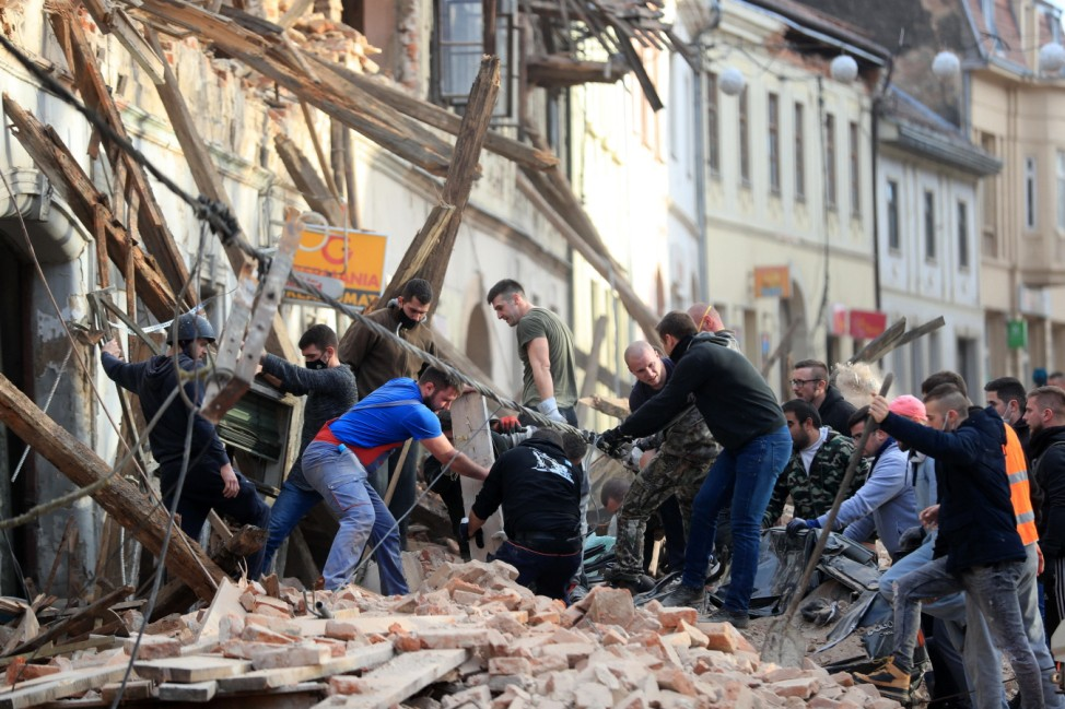 PXL_Earthquake in Croatia A strong earthquake in central Croatia has killed at least one person - a girl, injured many