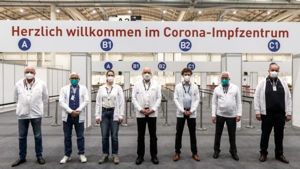 Coronavirus - Testlauf Impfzentrum Hamburg