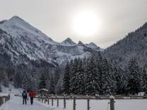 Schneelandschaft in Oberstdorf