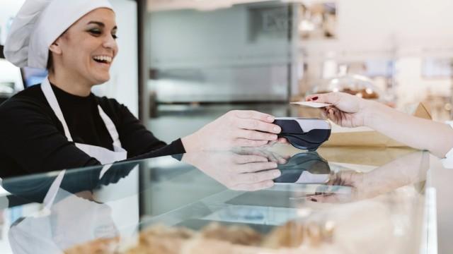 Bäcker Karte Kartenzahlung bargeldlos