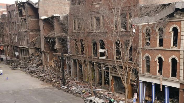 Nach Detonation in Nashville: Die Bombe, die am 25. Dezember in Nashville explodierte, hat großen Schaden angerichtet.