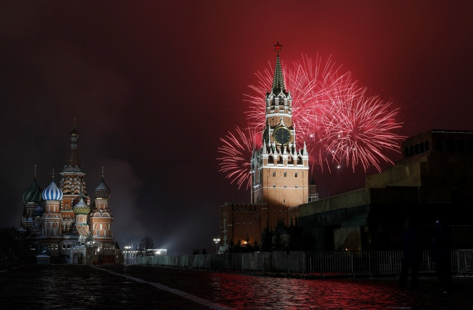 New Year's Day celebrations in Moscow