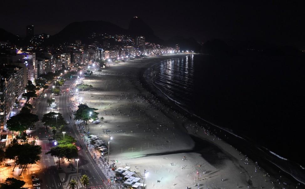 New Year's Eve, amid the coronavirus disease (COVID-19) outbreak, in Copacabana beach in Rio de Janeiro
