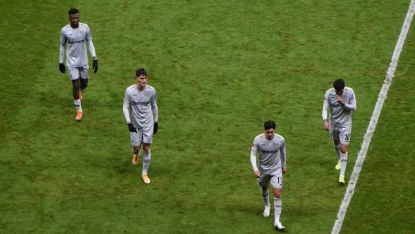02.01.2021 Frankfurt am Main, Deutsche Bank Park Fussball, 1. Bundesliga, Saison 2020/2021 Eintracht Frankfurt (SGE) geg