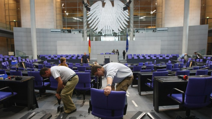 Bundestag Seating Rearranged Following Elections