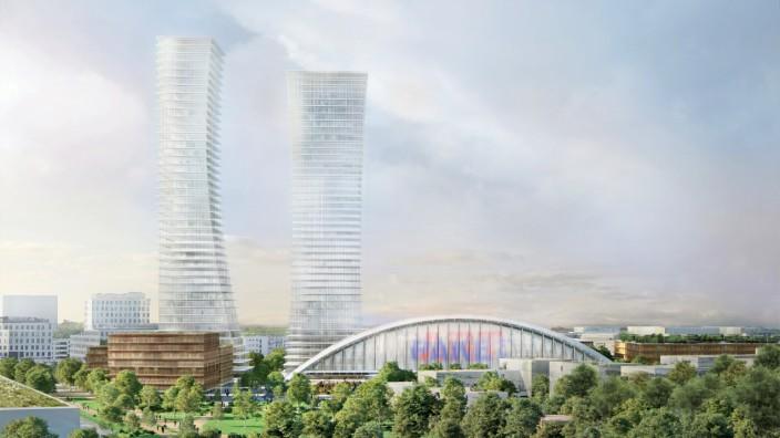 Pläne für Hochhäuser auf dem Areal der Paketposthalle
