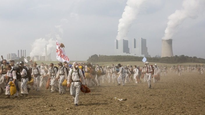 Protesters Converge On Rhineland Open-Pit Coal Mines