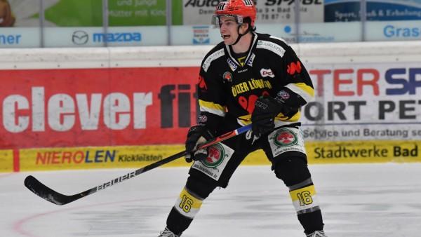 FRENCH Max (Tölzer Löwen 16), 2020/21 DEL 2 Tölzer Löwen vs. Crimmitschau Eispiraten , 18. Spieltag am 30.12.2020 in Bad; Eishockey