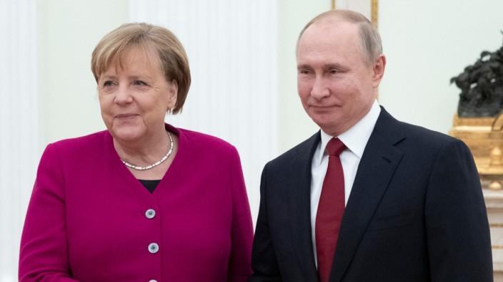 Merkel bei Putin in Moskau