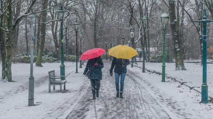 Berlin 03.01.2021: Spaziergang winterlich, Schnee, Gaslaternenmuseum, Grosser Tiergarten, Park, Berlin, Deutschland ***