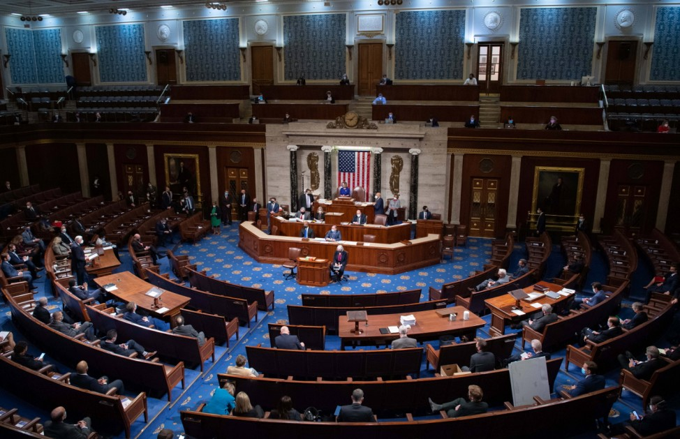 January 6, 2021, Washington, District of Columbia, USA: Speaker of the United States House of Representatives Nancy Pel