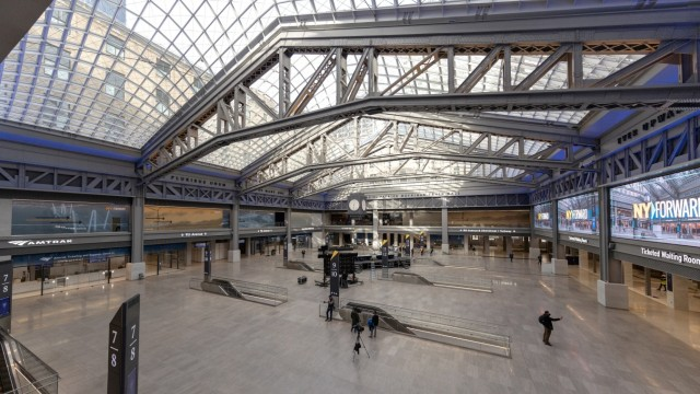 Public unveil of the Penn Station's new Moynihan Train Hall in New York City