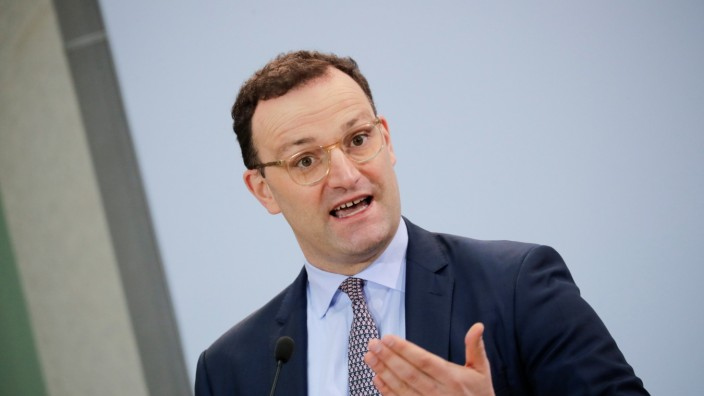 German Health Minister Spahn attends a news conference in Berlin