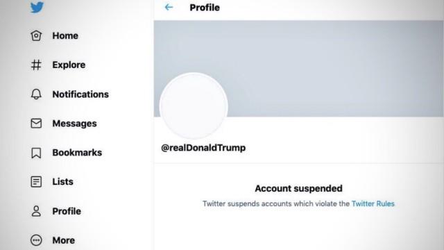 Trumps Konto auf Twitter ist gesperrt, Screenshot