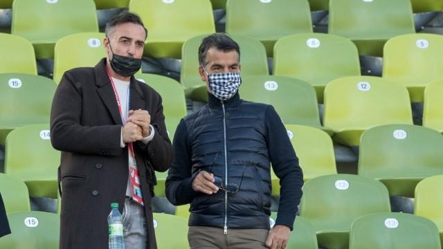 Fußball, 3. Liga, Türkgücü München - MSV Duisburg Im Bild Präsident Türkgücü München Hasan KIVRAN (links). München Olym