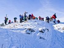 Wintersportler am Sudelfeld