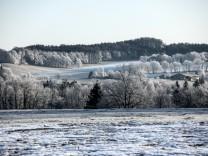 Winterliche Landschaft in Bayern, 2020