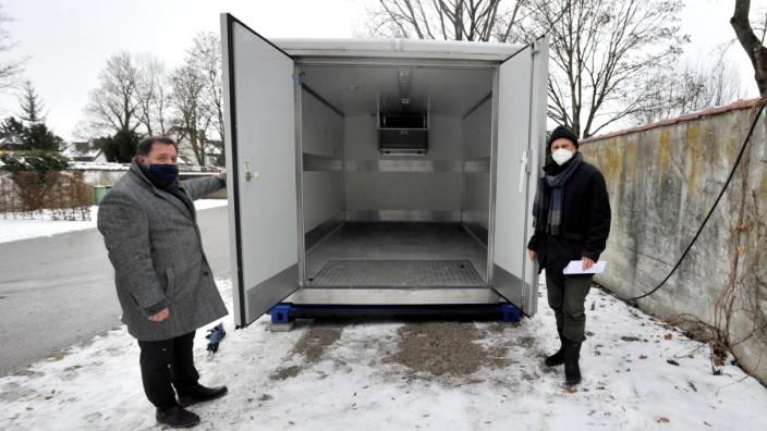 Herrsching: Friedhof - Kühlcontainer als Vorsorgemaßnahme