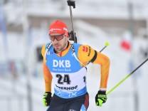 Biathlon: Arnd Peiffer bei einem Weltcup-Rennen