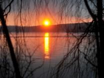 Stegen: Sonnenuntergang
