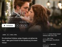 Screenshot der Netflix-Mediathek für eine Geschichte über die skurrilen Inhaltsangaben von Filmen bei Netflix © Netflix
