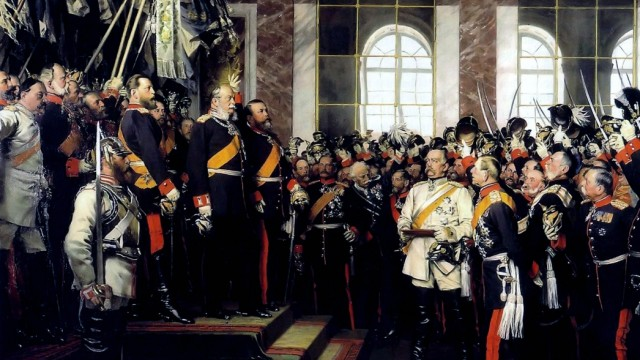 Anton von Werner s depiction of William I s proclamation as Emperor In 1871 following Prussia s vi