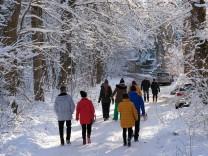 Winter Schnee Schneefall Wetter Roddeln Wandern Harz 10.01.2020 Die Landschaft rings um die Stadt Elbingerode im Landkr
