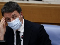 Rome, Press Conference by Matteo Renzi to communicate the resignation of the ministers from the goveno Conte Bis Pictur