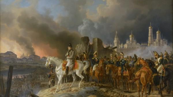 Kunstmaler Adam Albrecht Brennendes Moskau 1841