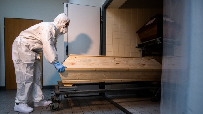 Coronavirus-Todesopfer im Krematorium Celle