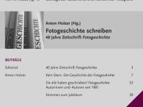 Fotogeschichte schreiben- 40 Jahre Zeitschrift Fotogeschichte
