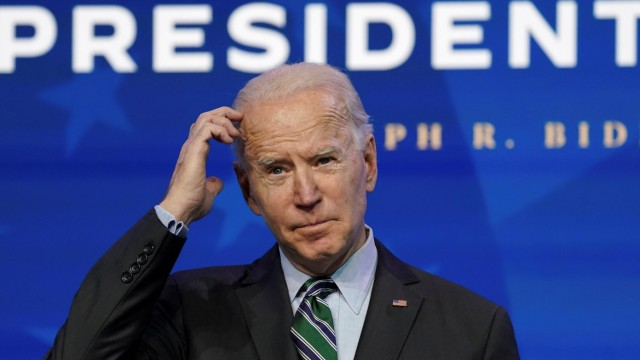 U.S. president-elect Joe Biden announces his science team in Wilmington, Delaware