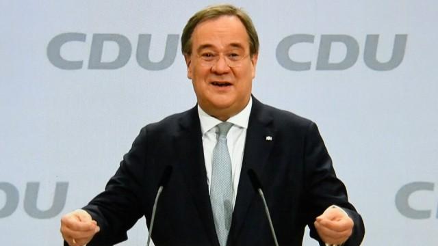 Deutschland, Berlin , 16.01.2021 CDU-Parteitag Foto: Sieger Armin Laschet CDU-Parteitag *** Germany, Berlin , 16 01 202
