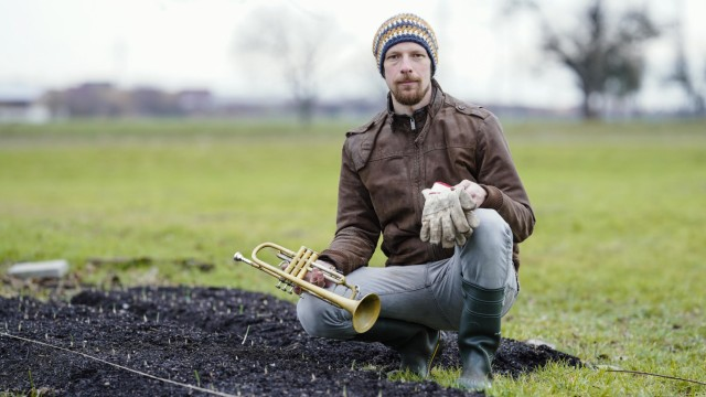 Jazztrompeter Johannes Stange